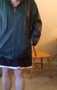 Cj banks green leather jacket